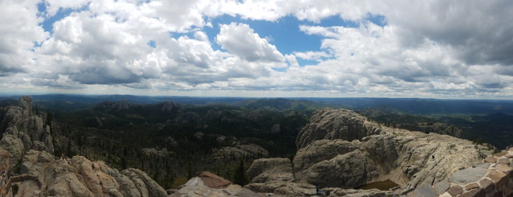 Perspective of the Black Hills from the Harney Peak Fire Tower