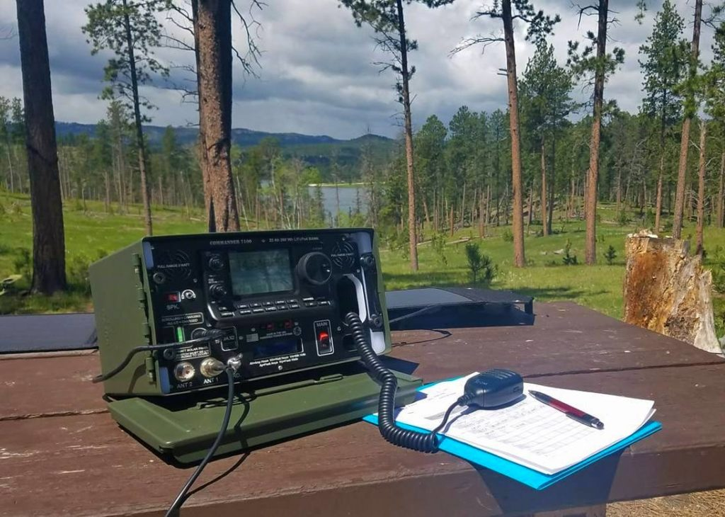 Portable amateur radio station working in the Black Hills National Forest in South Dakota.