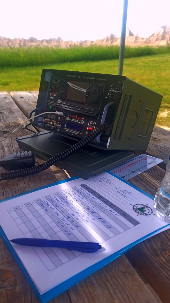 Working field amateur radio from the Badlands National Park in South Dakota.