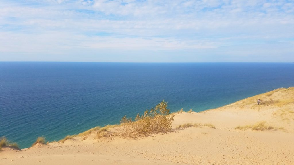 View northwest from the Sleeping Bear Dunes Overlook.