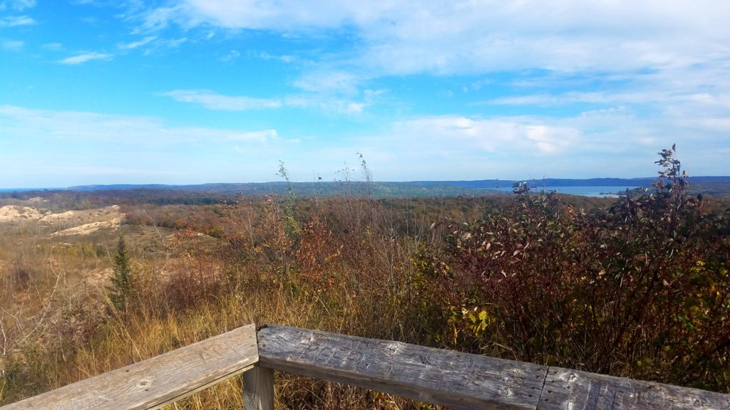 Looking east from my operating location near the Sleeping Bear Dunes Overlook.