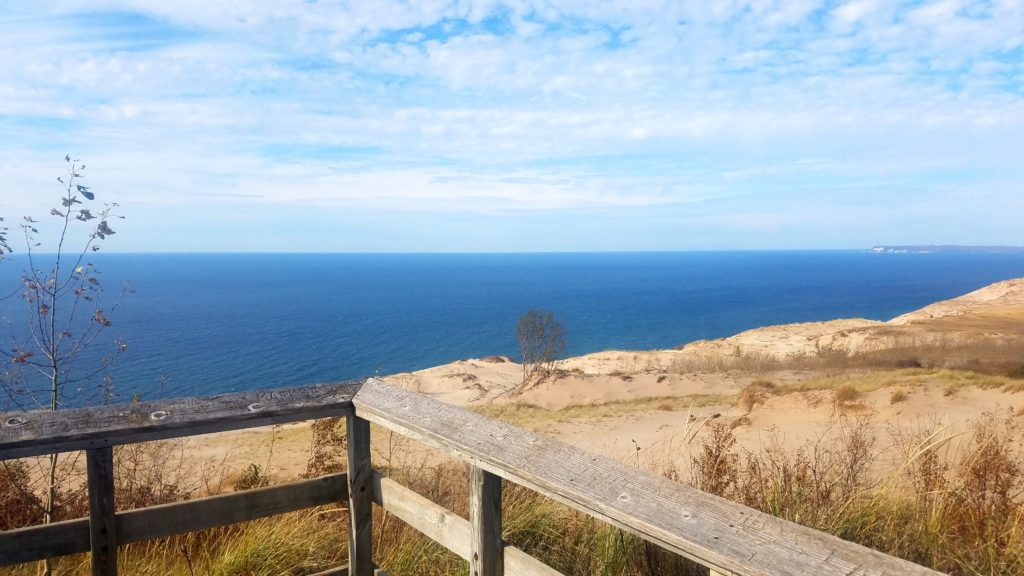 Lake Michigan: view to the west from my operating location near the Sleeping Bear Dunes Overlook.