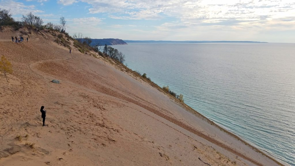 View southwest from the Sleeping Bear Dunes Overlook.