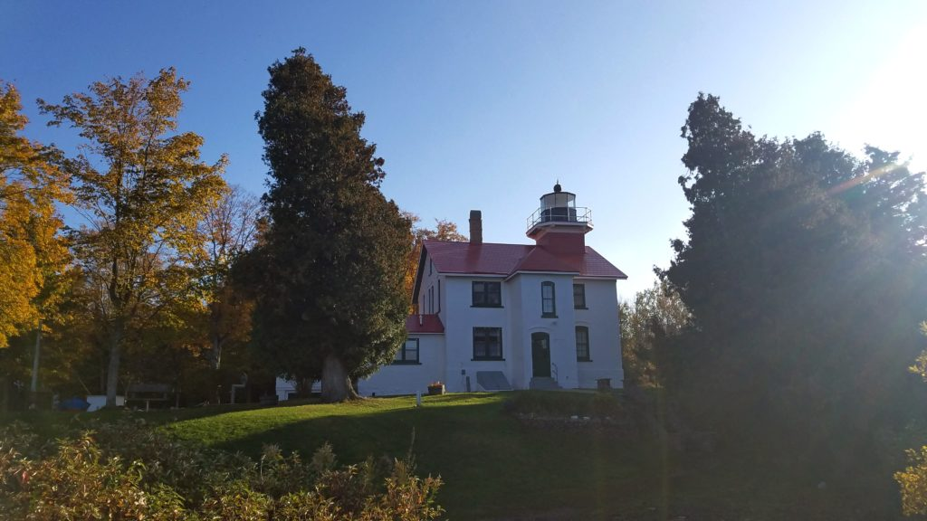 The Grand Traverse Lighthouse.