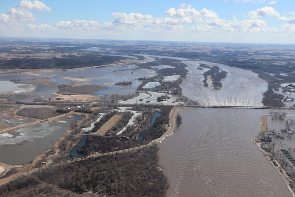 Catastrophic flood in Nebraska in March 2019.