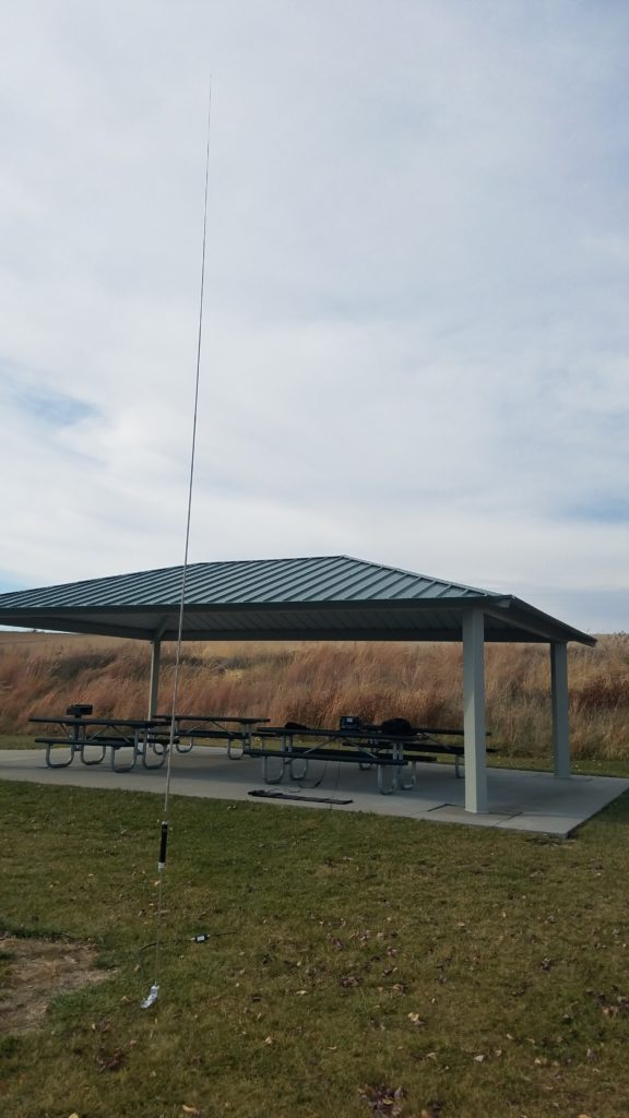 My field HF station is set up to activate K-4014 Prairie Queen Recreation Area.